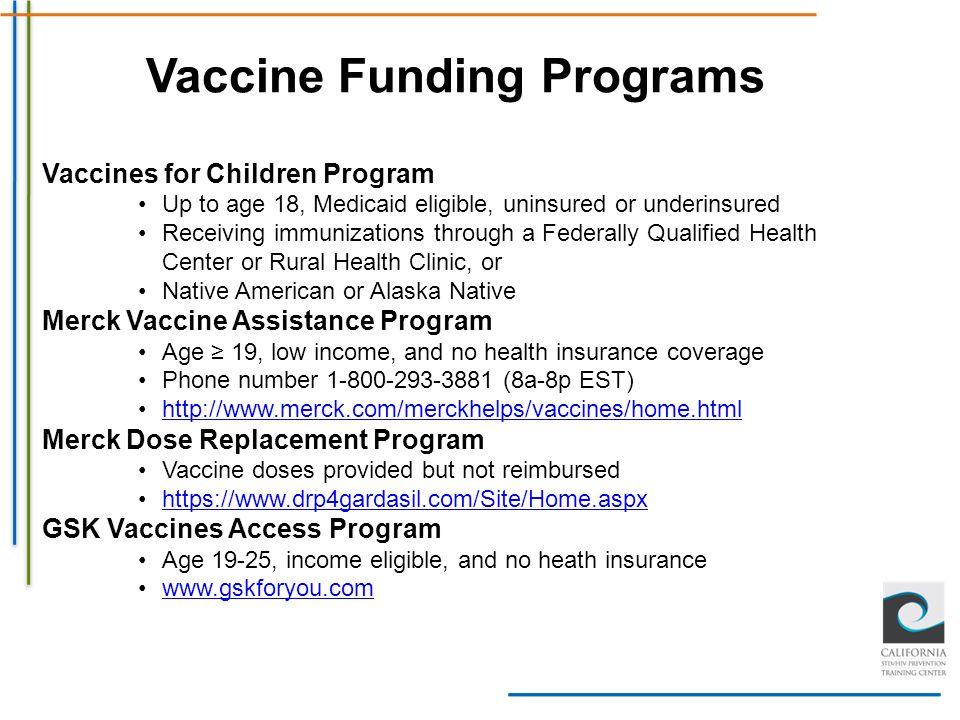 Vaccine Funding Programs