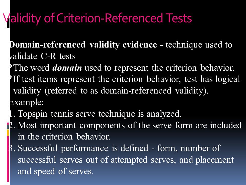 Validity of Criterion-Referenced Tests