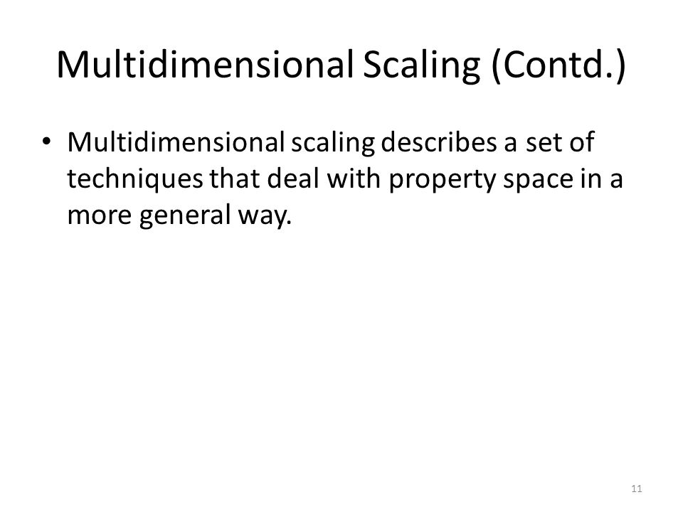 Multidimensional Scaling (Contd.)