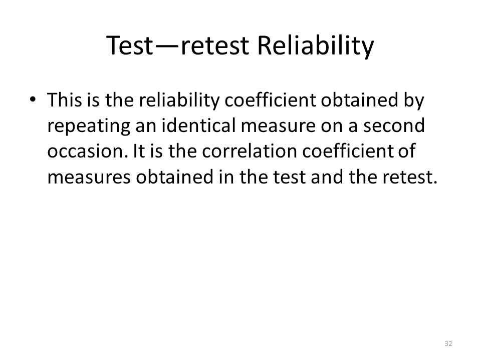 Test—retest Reliability