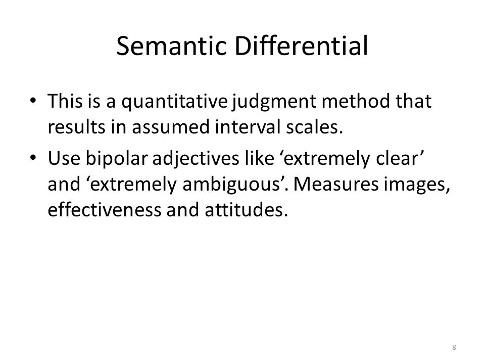Semantic Differential