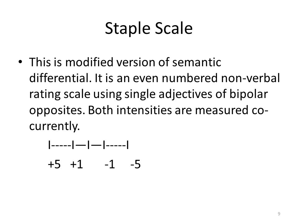 Staple Scale