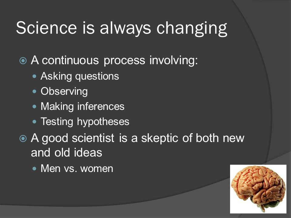 Science is always changing