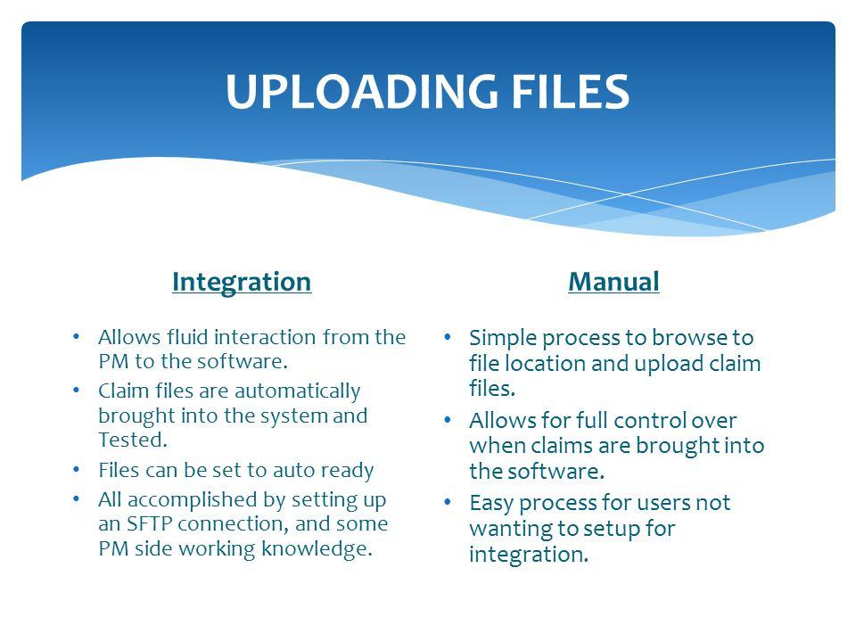 UPLOADING FILES Integration Manual