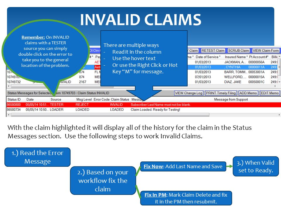 INVALID CLAIMS