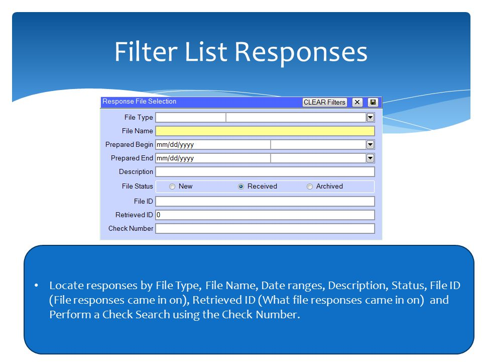 Filter List Responses