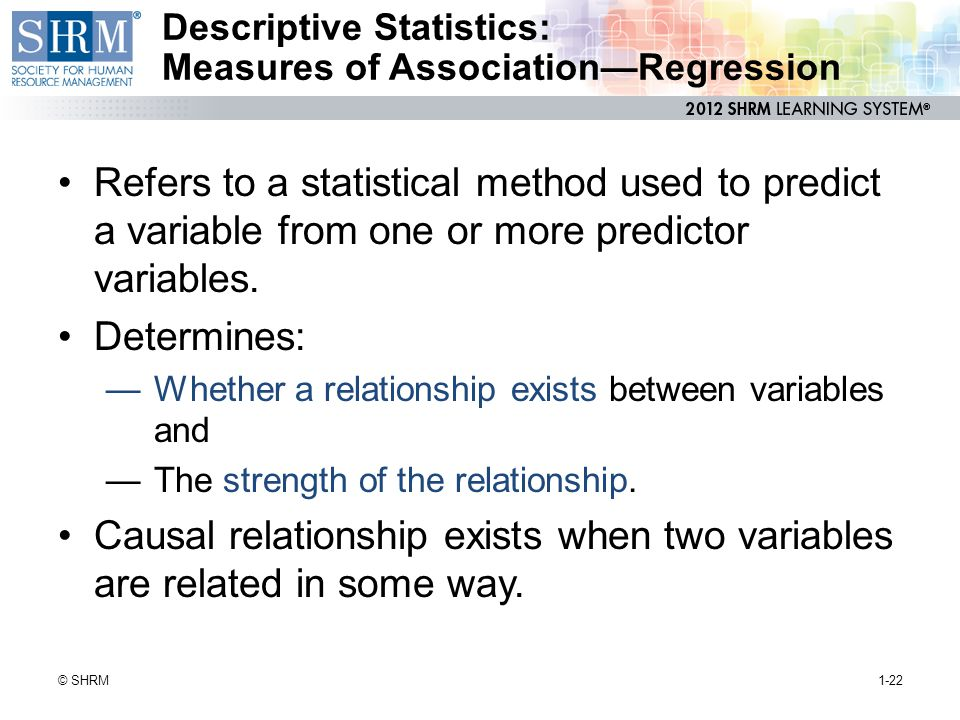 Descriptive Statistics: Measures of Association—Regression
