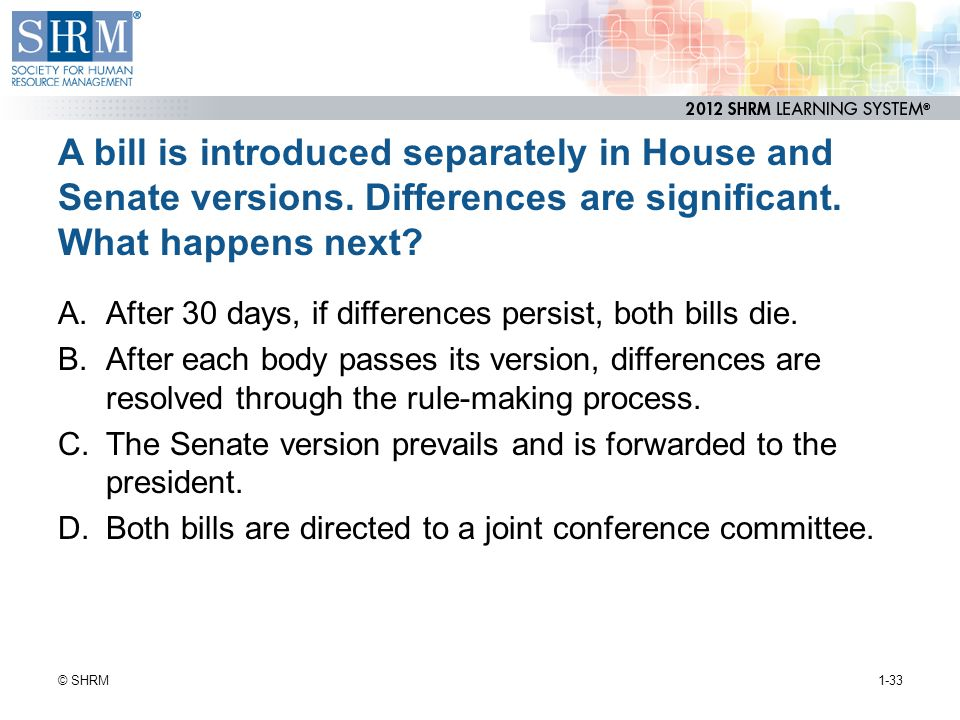 A bill is introduced separately in House and Senate versions