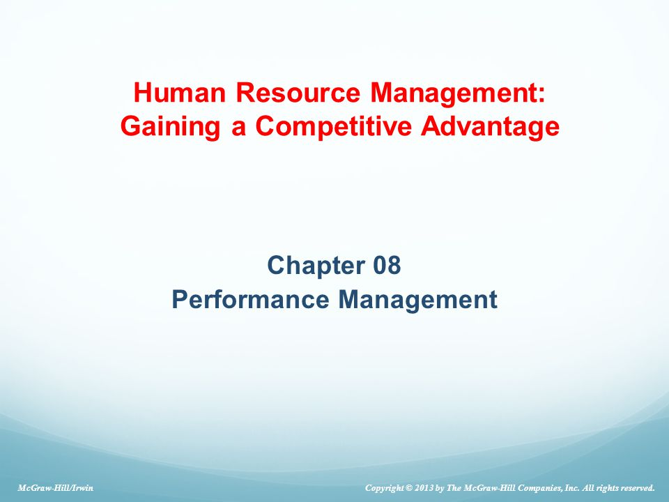 Chapter 08 Performance Management