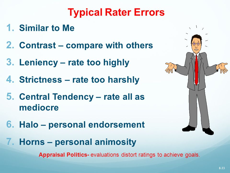 Typical Rater Errors Similar to Me Contrast – compare with others