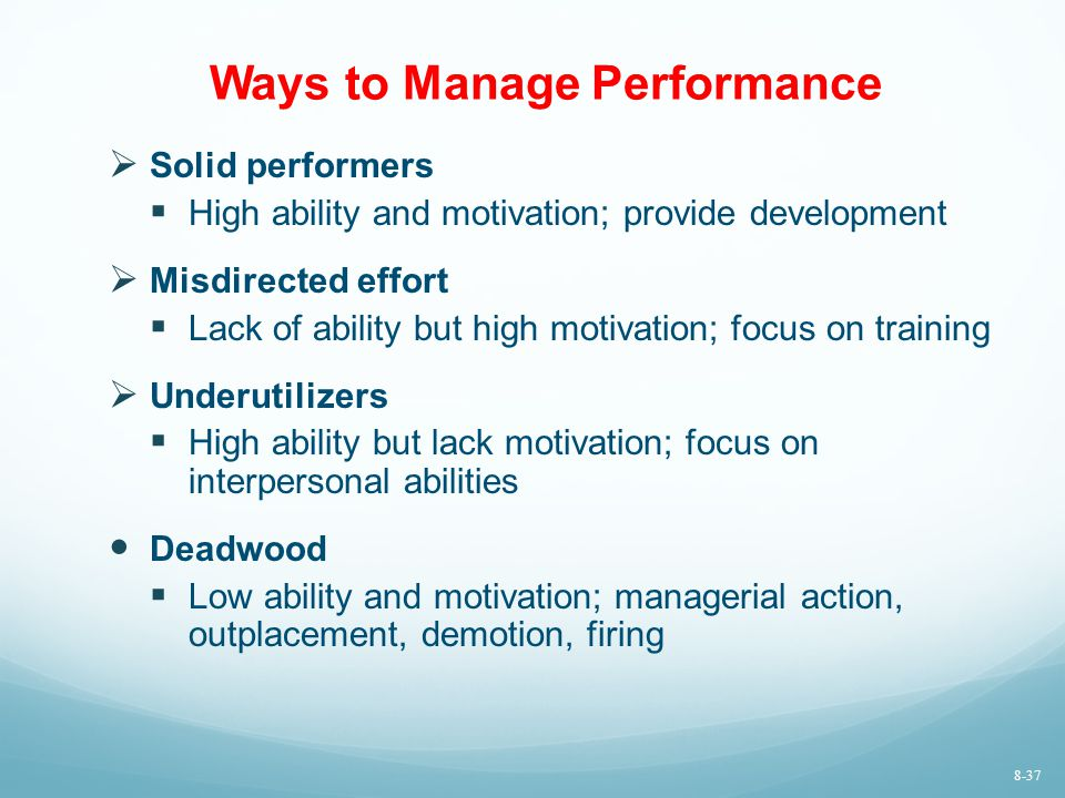 Ways to Manage Performance