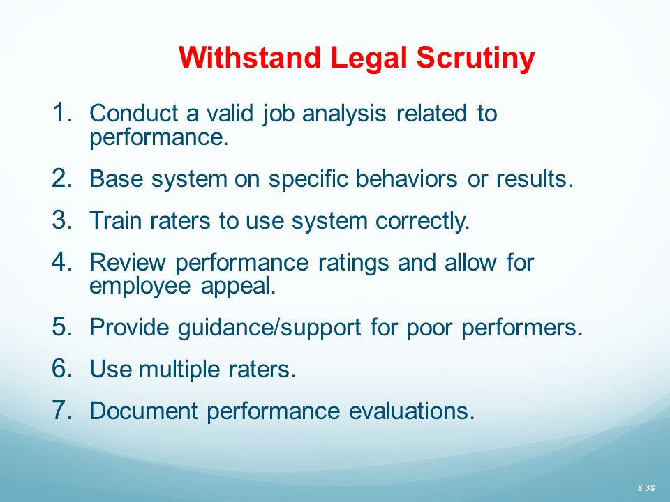 Withstand Legal Scrutiny