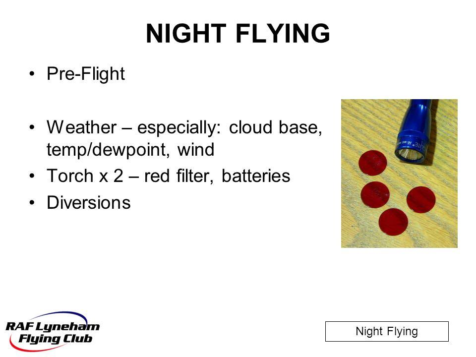 NIGHT FLYING Pre-Flight