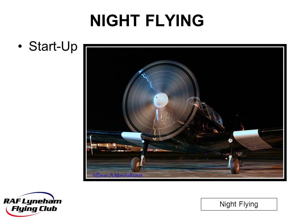 NIGHT FLYING Start-Up