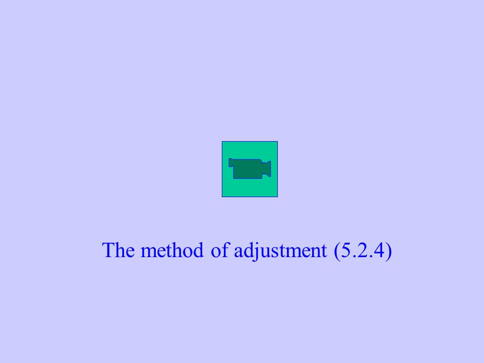 The method of adjustment (5.2.4)