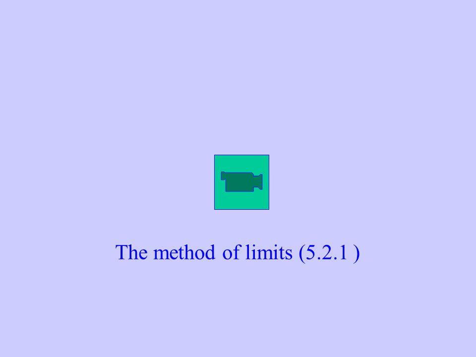 The method of limits (5.2.1 )