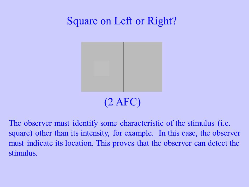 Square on Left or Right (2 AFC)