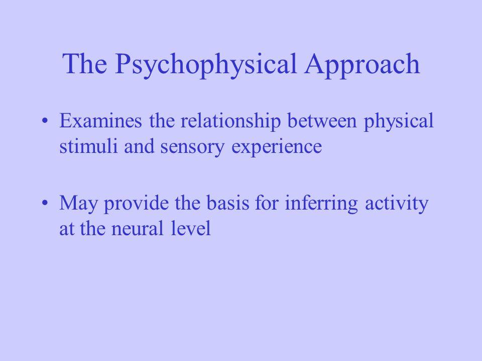 The Psychophysical Approach