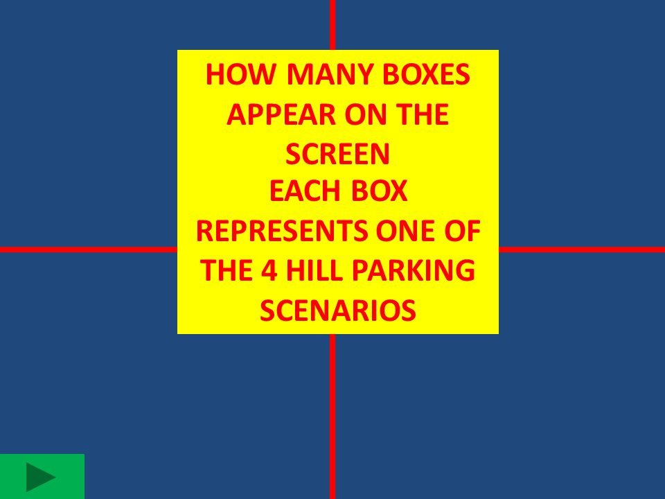 HOW MANY BOXES APPEAR ON THE SCREEN