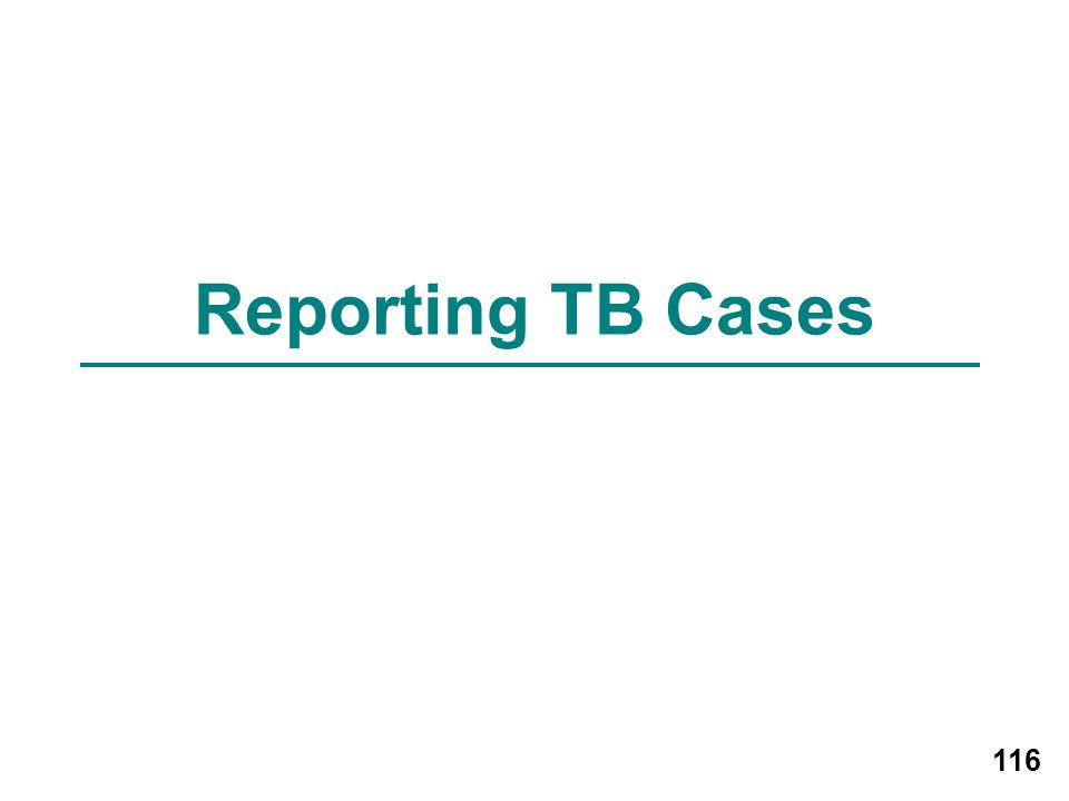 Reporting TB Cases