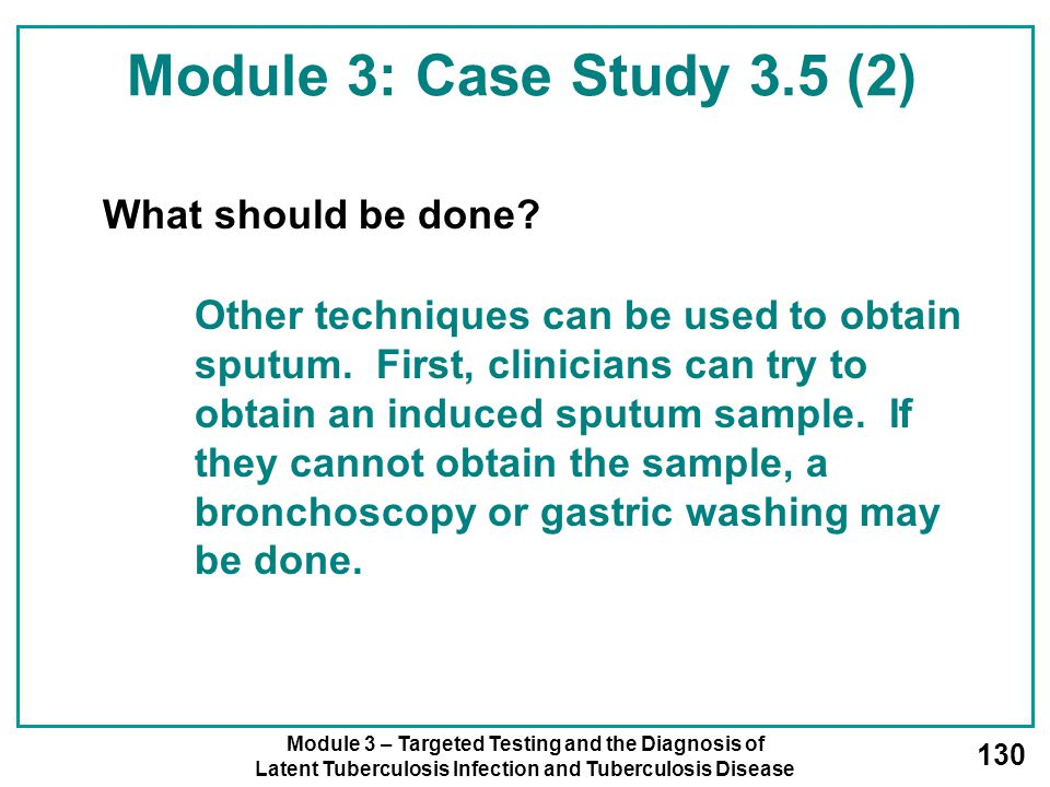 Module 3: Case Study 3.5 (2) What should be done