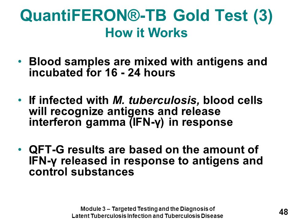 QuantiFERON®-TB Gold Test (3) How it Works