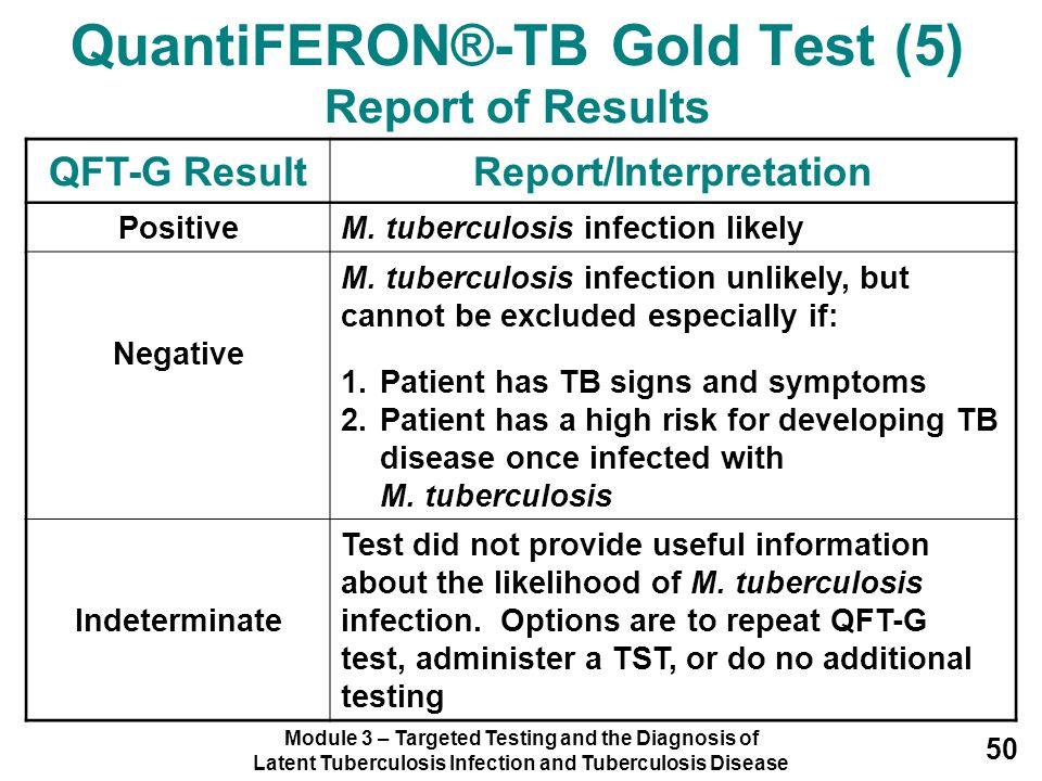 QuantiFERON®-TB Gold Test (5) Report of Results