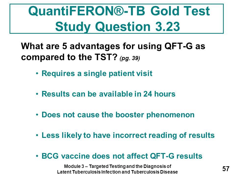 QuantiFERON®-TB Gold Test Study Question 3.23