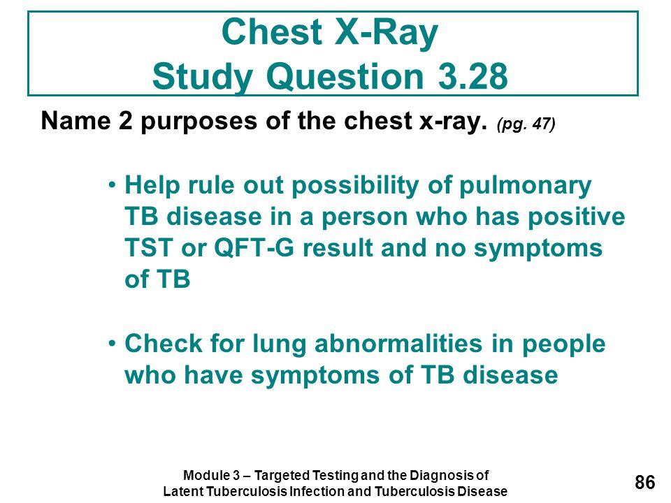 Chest X-Ray Study Question 3.28