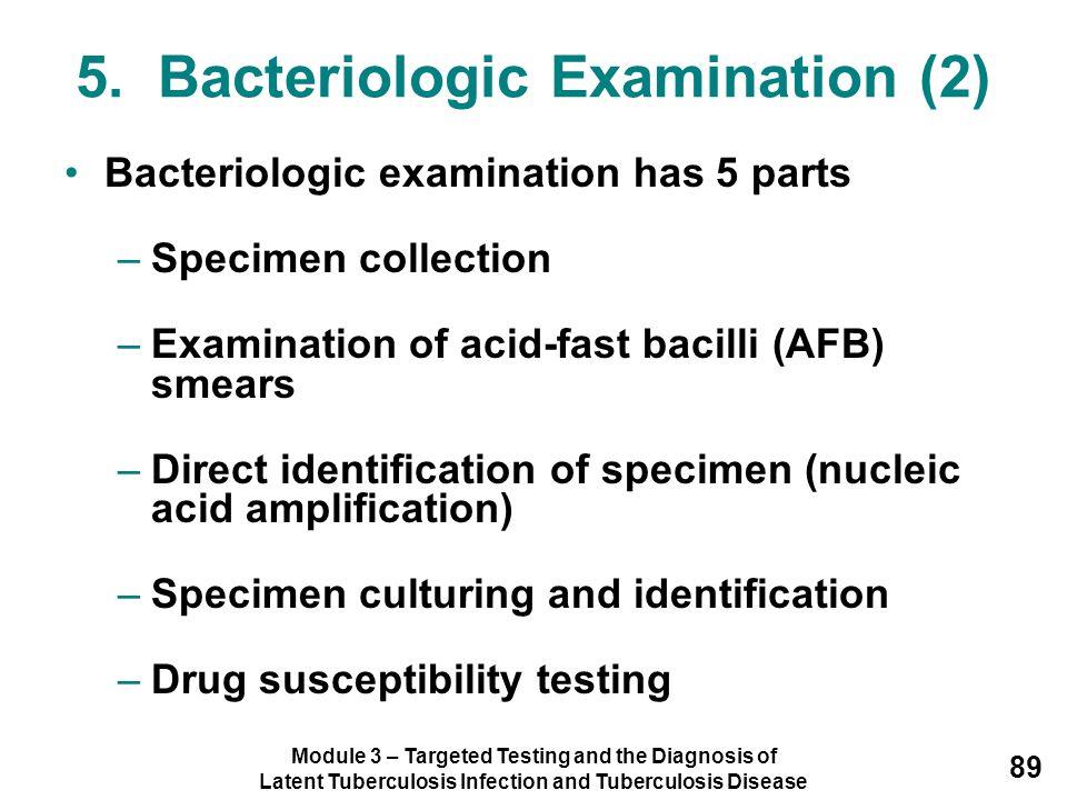 5. Bacteriologic Examination (2)