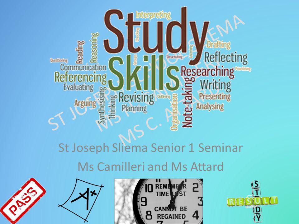 St Joseph Sliema Senior 1 Seminar Ms Camilleri and Ms Attard