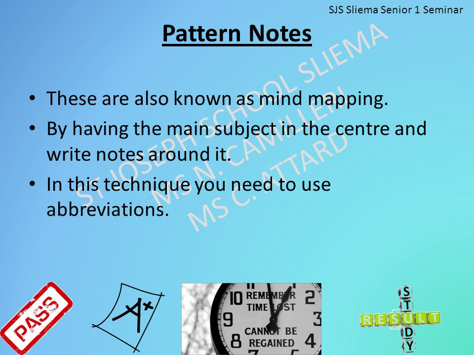 Pattern Notes These are also known as mind mapping.