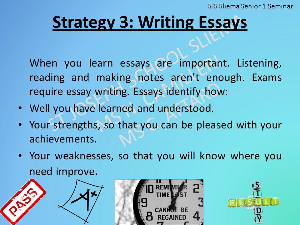 Strategy 3: Writing Essays