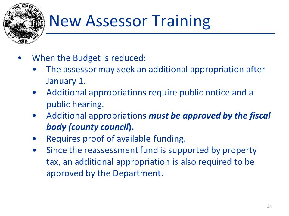 New Assessor Training When the Budget is reduced: