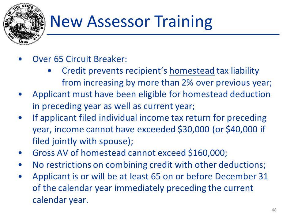 New Assessor Training Over 65 Circuit Breaker: