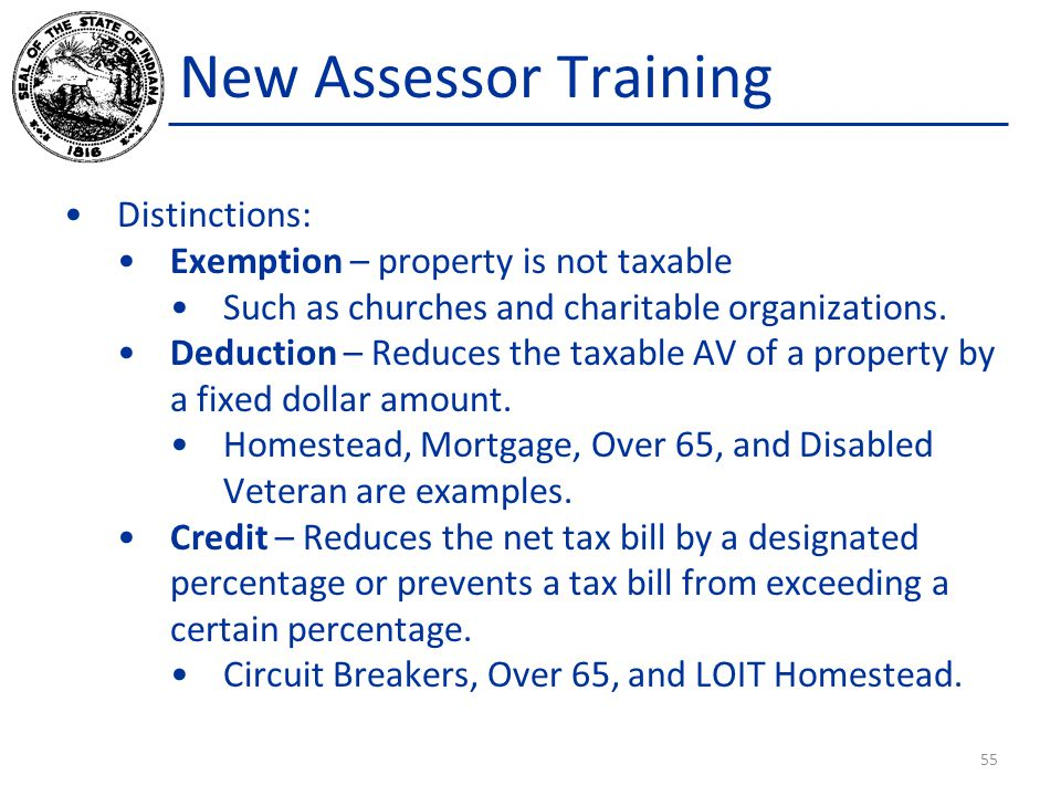 New Assessor Training Distinctions: