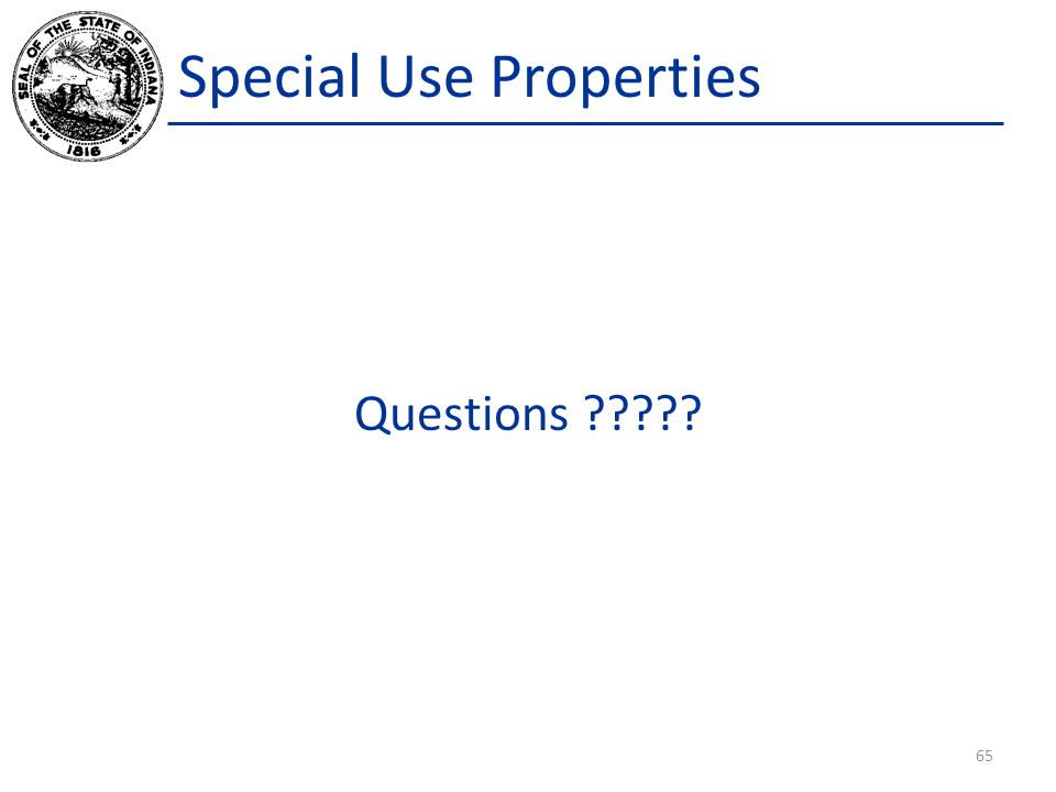Special Use Properties