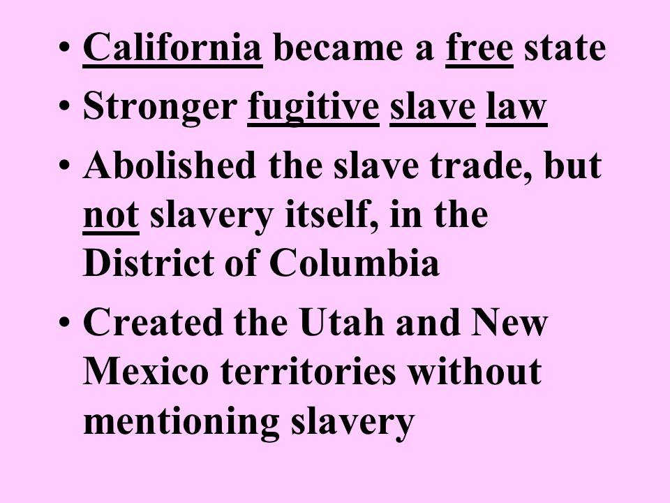 California became a free state