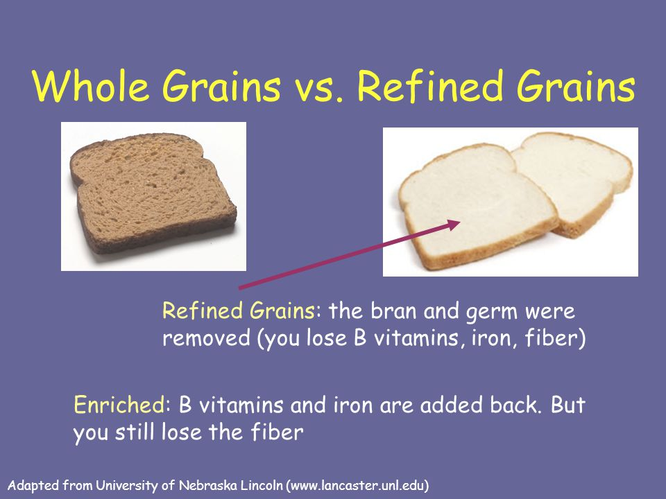 Whole Grains vs. Refined Grains