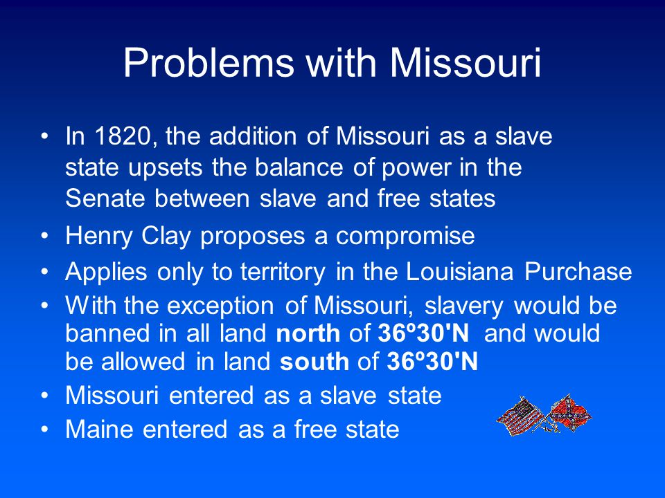 Problems with Missouri