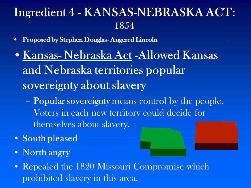 Ingredient 4 - KANSAS-NEBRASKA ACT: 1854