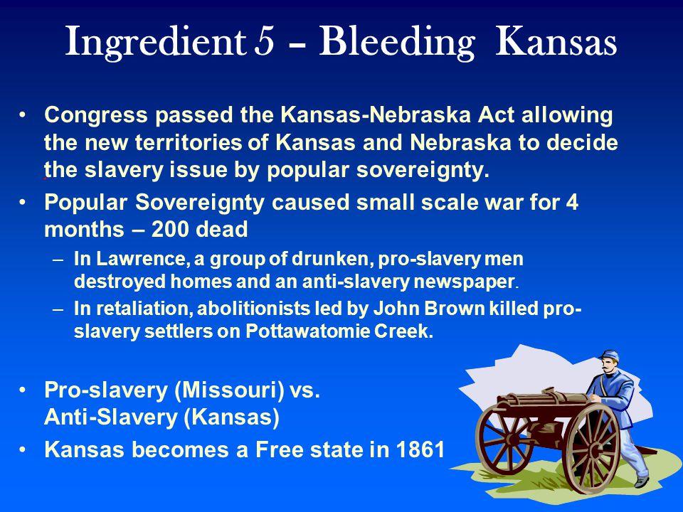 Ingredient 5 – Bleeding Kansas