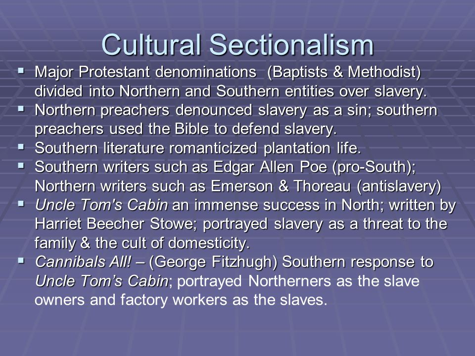 Cultural Sectionalism