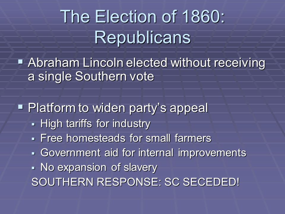 The Election of 1860: Republicans