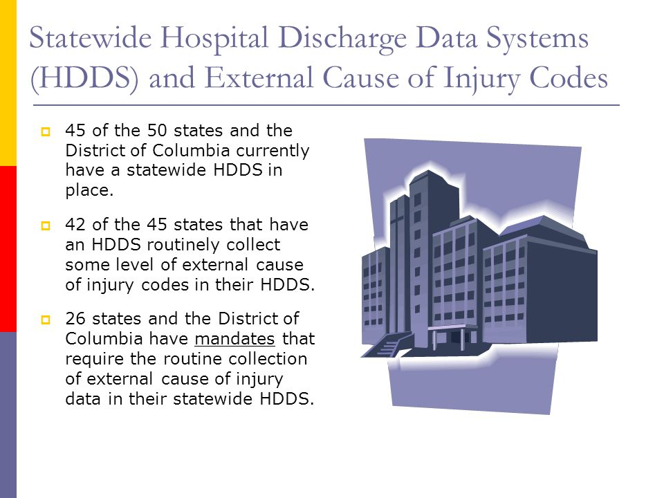 Statewide Hospital Discharge Data Systems (HDDS) and External Cause of Injury Codes