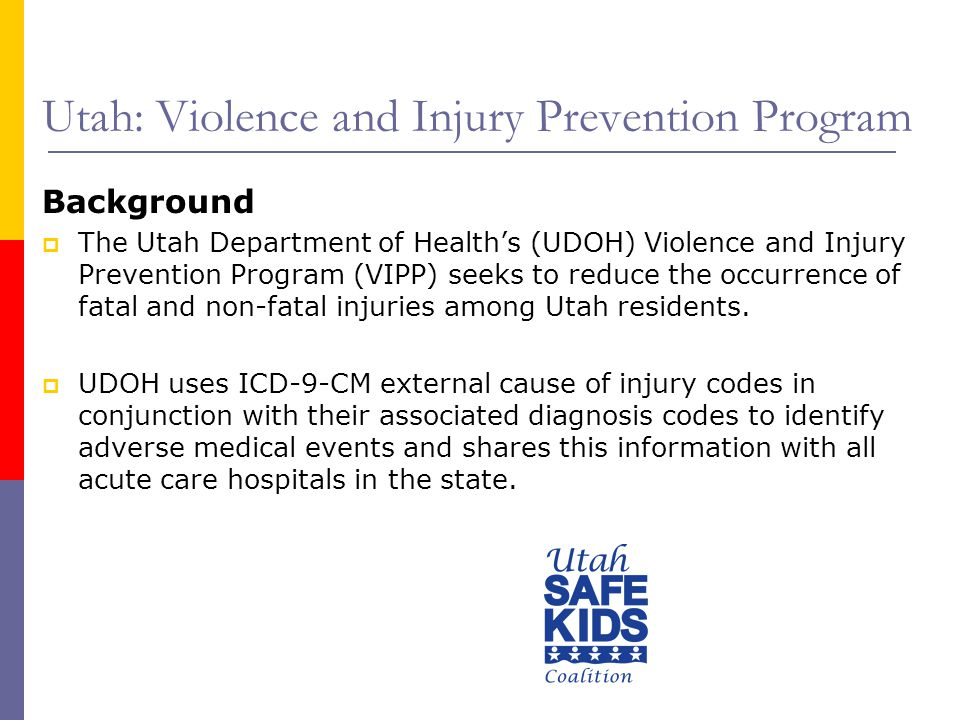 Utah: Violence and Injury Prevention Program