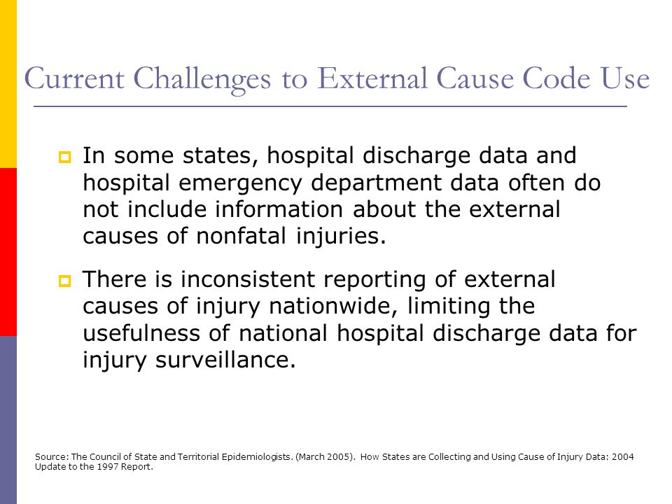 Current Challenges to External Cause Code Use