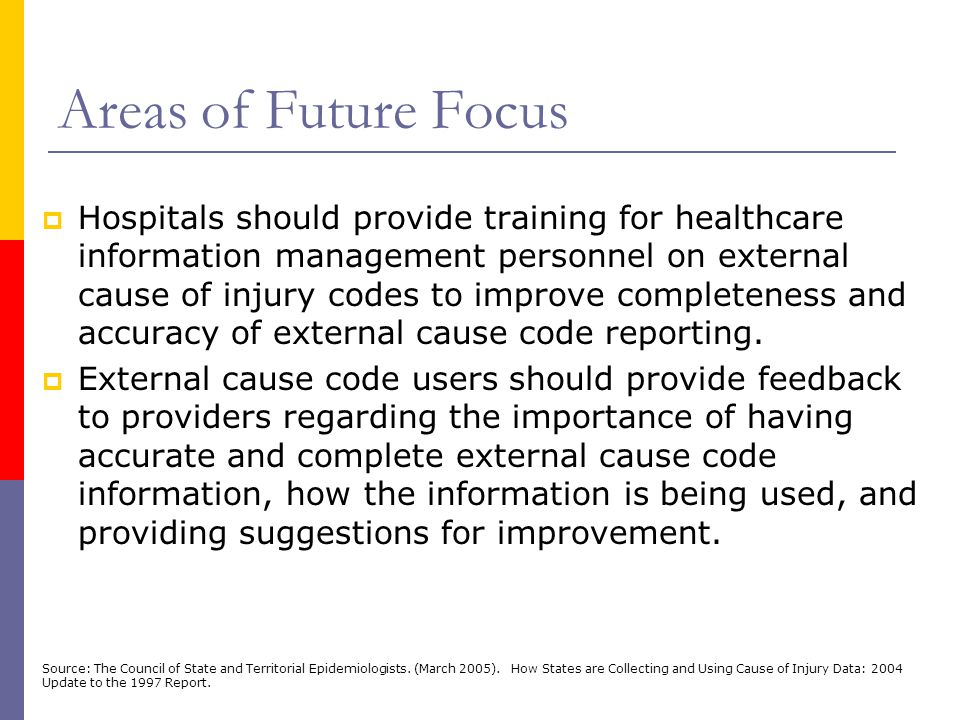 Areas of Future Focus