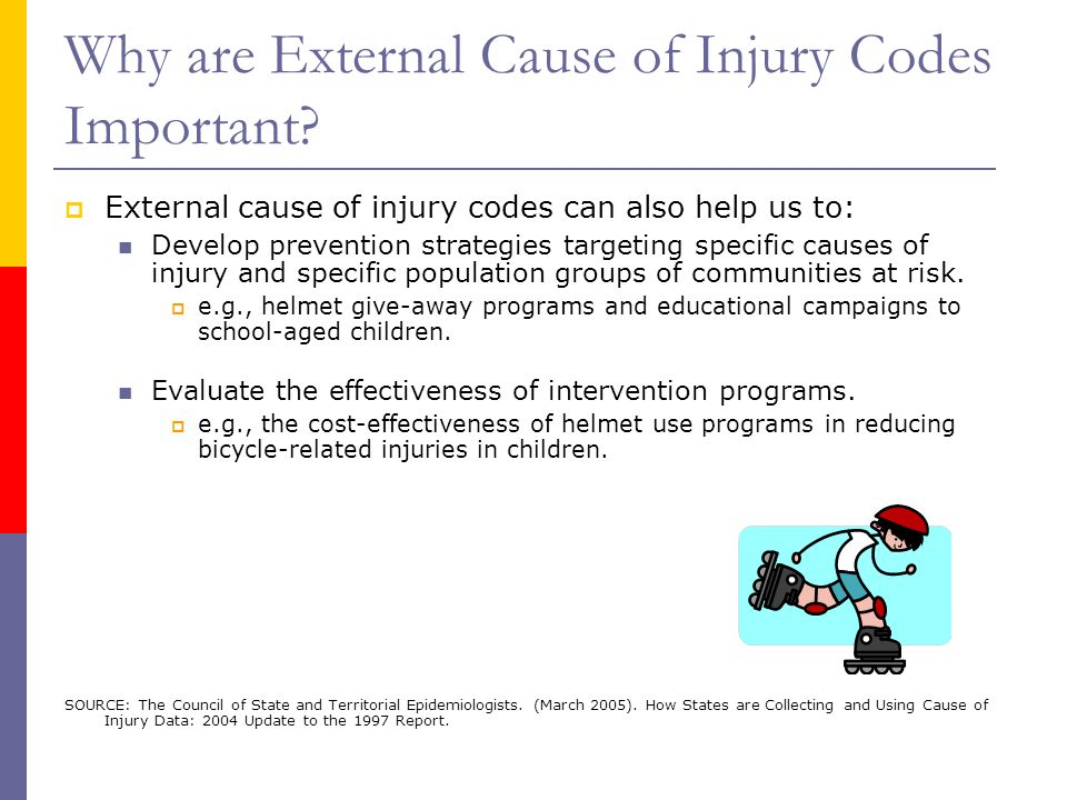 Why are External Cause of Injury Codes Important