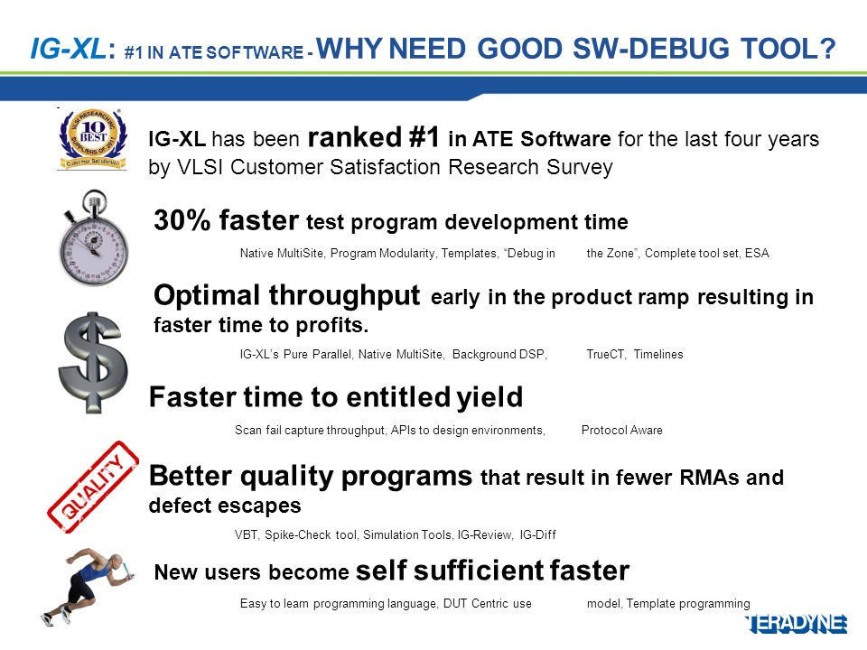 IG-XL: #1 in ATE Software - Why need Good SW-debug tool